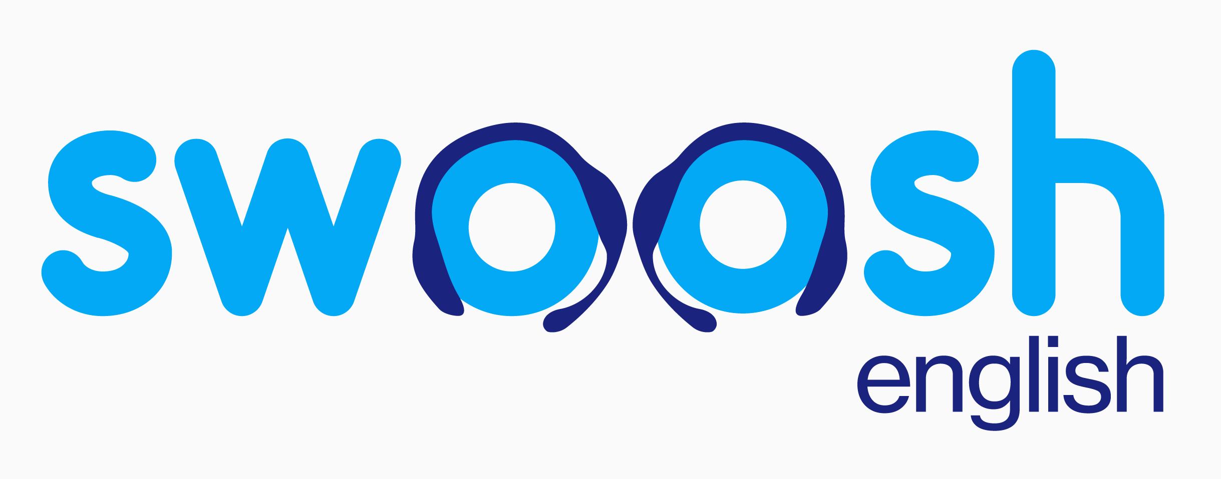Swoosh English Logo White Background