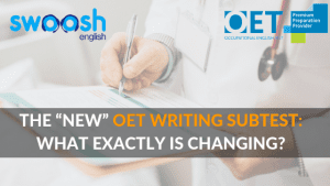 """The """"New"""" OET Writing Subtest: What is exactly is changing? image banner"""