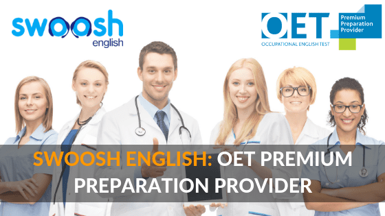 Swoosh English: OET Premium Preparation Provider image banner