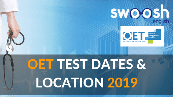 OET Test dates and Location 2019 image banner