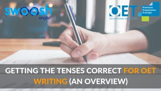Getting the tenses correct for OET writing (An Overview) image banner