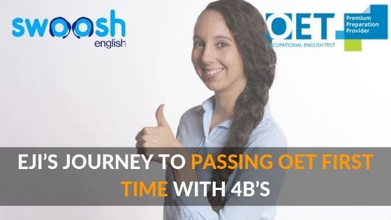 Eji's journey to passing OET first time with 4b's image banner