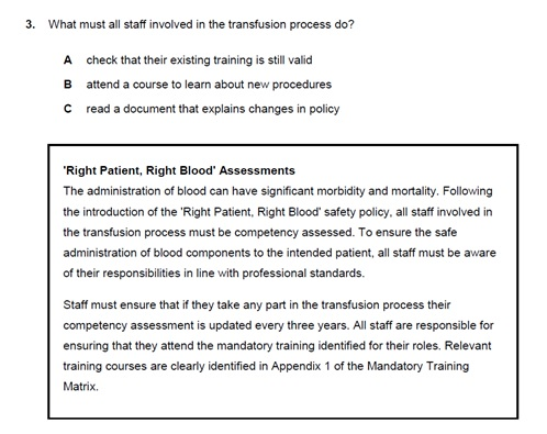 A preview sample about Right patient and Right Blood Assessments