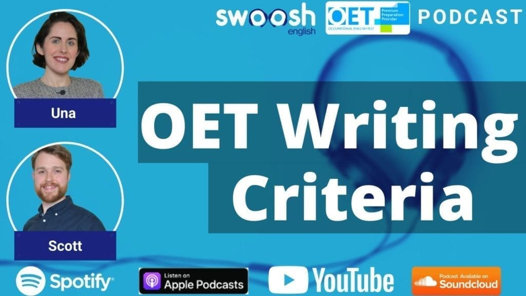 OET Writing Criteria, OET Writing Scoring, the Writing Criteria